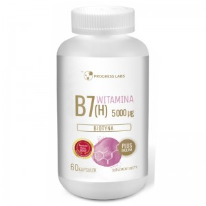 Witamina B7 Biotyna (H) 60 kaps. PROGRESS LABS