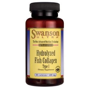 Hydrolyzed Fish Collagen (Hydrolizowany kolagen z ryb) typu I 400mg 60kaps. SWANSON