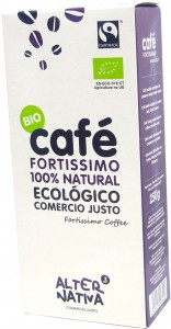 Kawa mielona ARABICA/ROBUSTA FORTISSIMO FAIR TRADE BIO 250g ALTERNATIVA