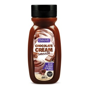 Sauce Chocolate Cream Smooth Zero Calories (Sos czekoladowy Zero Kalorii) 320ml OSTROVIT