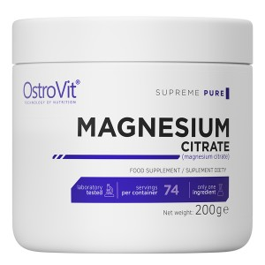Magnesium Citrate Cytrynian Magnezu Supreme Pure 200g OstroVit