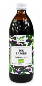Sok z Aronii BIO 500ml BIO PLANET