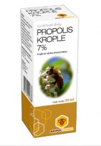 Propolis w kroplach 7% 20ml APIPOLFARMA