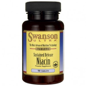 Niacin (niacyna) 500mg Sustained Relese 90tabs. SWANSON