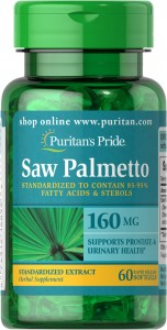 Saw Palmetto Ekstrakt 160mg 60kaps. PURITAN'S PRIDE
